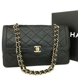 100% Auth CHANEL Paris Limited Double Flap Quilted